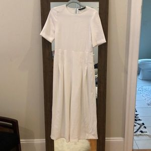 Zara White Wide-Leg Jumpsuit